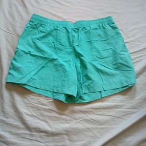 Columbia size large teal shorts with elastic band